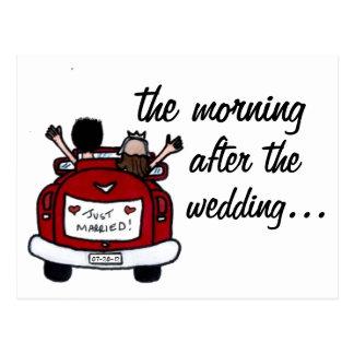 El desayuno del boda invita postales