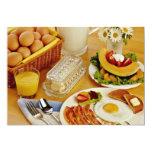 El desayuno del tocino, los huevos y la jarra de invitación 12,7 x 17,8 cm