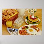 El desayuno del tocino, los huevos y la jarra de l impresiones