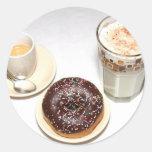 El desayuno perfecto etiqueta redonda