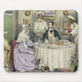 """El desayuno, platea 3 de """"indios Anglo"""", engra Tapetes De Raton"""