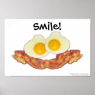 El desayuno Smilie hace frente por el cerero de Cl Póster