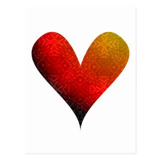 El desbordar del Pintura-mi-Corazón Tarjetas Postales