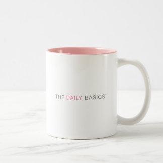 El descanso para tomar café básico diario taza de dos tonos