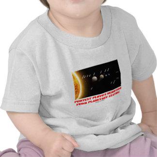 ¡El descenso de rango de Plutón de la protesta de  Camiseta