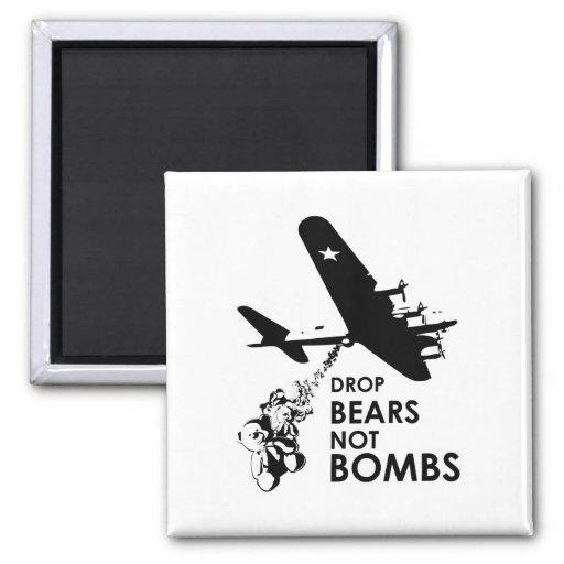 El descenso lleva no bombas imán cuadrado