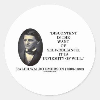 El descontento es el deseo de la independencia pegatina redonda