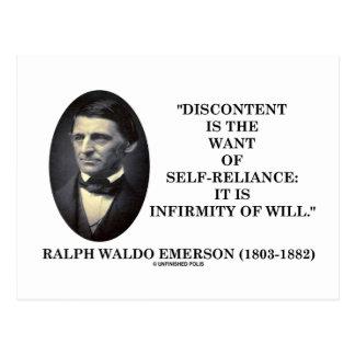 El descontento es el deseo de la independencia