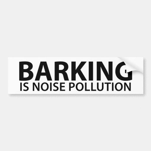 El descortezamiento es contaminación acústica pegatina para auto