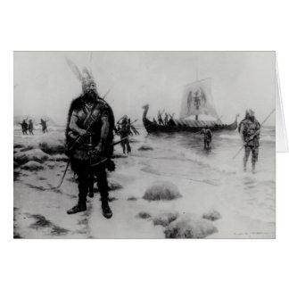 El descubrimiento de América de Leif Eriksson Tarjeta De Felicitación