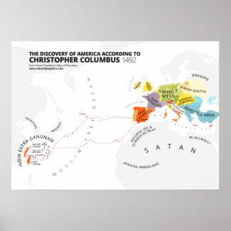 El descubrimiento de América según Columbus Póster