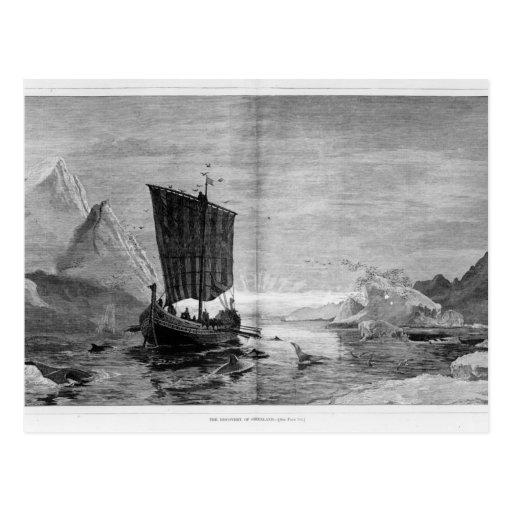 El descubrimiento de Groenlandia Postales