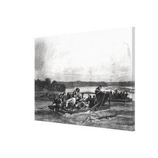 El descubrimiento del Mississippi de Soto Lona Envuelta Para Galerias