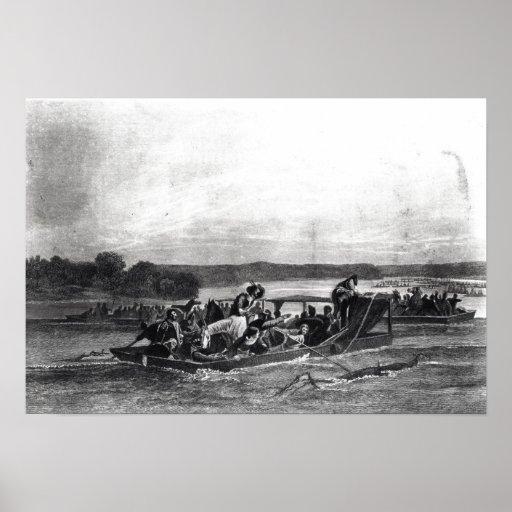 El descubrimiento del Mississippi de Soto Póster