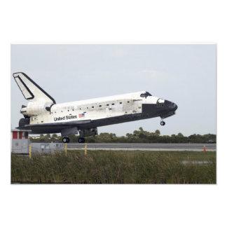 El descubrimiento del transbordador espacial aterr arte fotografico