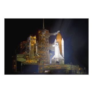 El descubrimiento del transbordador espacial en la impresion fotografica