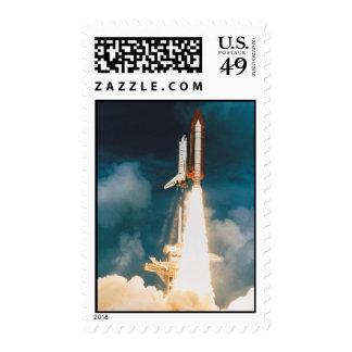 El descubrimiento del transbordador espacial sello