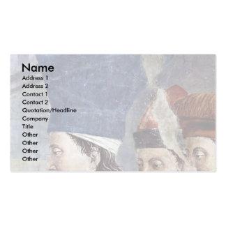 El descubrimiento y la verificación de la cruz san plantilla de tarjeta de negocio