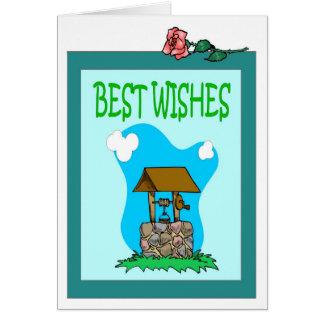 El desear bien tarjeta de felicitación