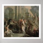 El desembarque de Cleopatra en el tarso (aceite en Impresiones