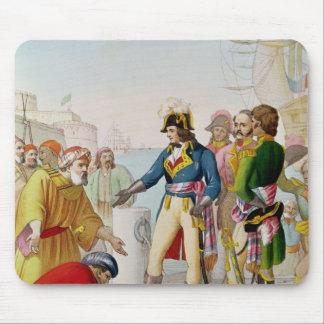 El desembarque de Napoleon en Alexandría Tapetes De Ratón