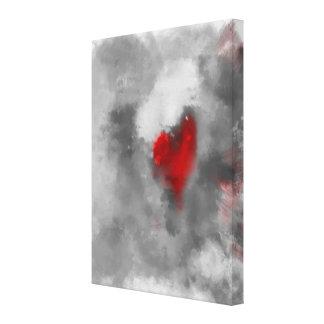 """El deseo 18"""" del corazón x 24"""" extracto moderno lona envuelta para galerias"""