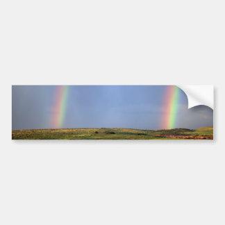 El deseo del arco iris viene verdad pegatina de parachoque