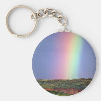 El deseo del arco iris viene verdad llavero redondo tipo pin