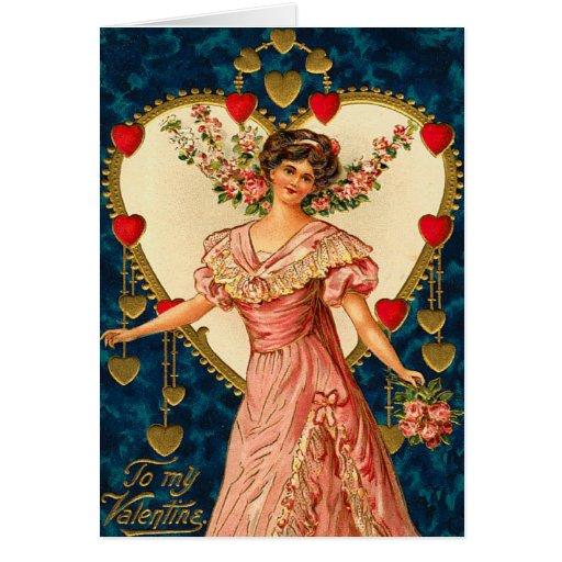 El deseo del corazón del Victorian Tarjeta De Felicitación