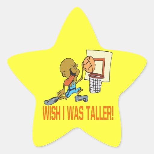 El deseo I era más alto Colcomanias Forma De Estrella