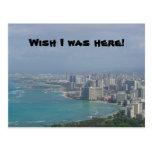 ¡El deseo I estaba aquí! Postal