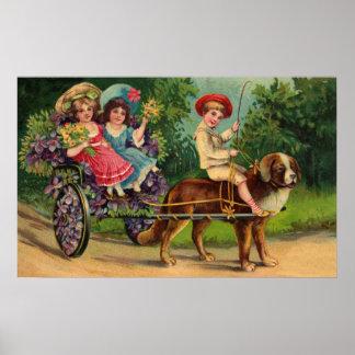 El desfile de los niños del Victorian Póster