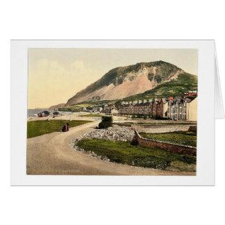 El desfile, Llanfairfechan, País de Gales Photochr Tarjeta