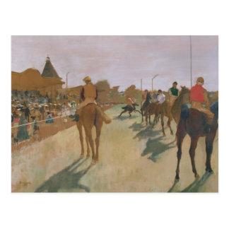 El desfile, o caballos de raza delante de los sopo postal