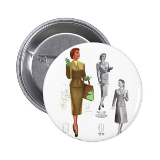 El desgaste de mujeres retro de la moda del kitsch pin redondo de 2 pulgadas