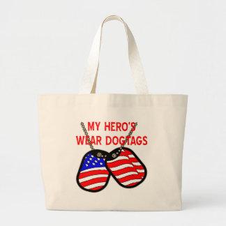 El desgaste Dogtags de mi héroe Bolsas Lienzo