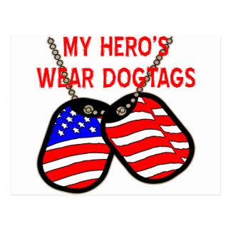 El desgaste Dogtags de mi héroe Postales