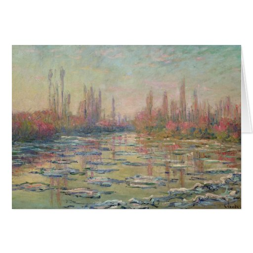 El deshielo en el Sena, cerca de Vetheuil, 1880 Tarjeta De Felicitación