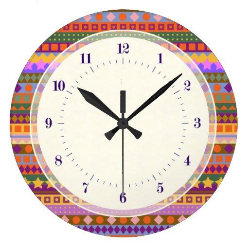 El desierto azteca de Arizona colorea zigzag del s Reloj Redondo Grande
