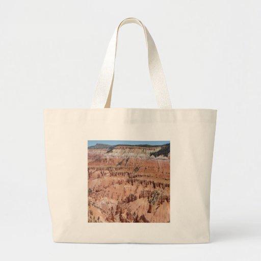 El desierto clava escena bolsa tela grande