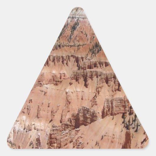 El desierto clava escena calcomanías de trianguladas