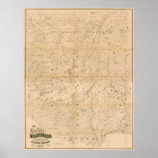 El desierto de Nueva York. Mapa 1879 Póster