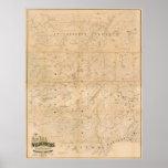 El desierto de Nueva York. Mapa 1879 Posters