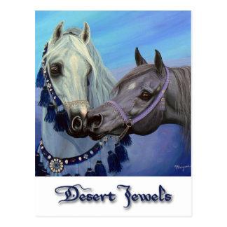 El desierto Jewels la postal árabe de los caballos