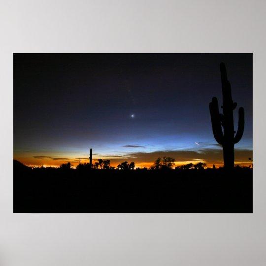 El desierto majestuoso va a dormir póster