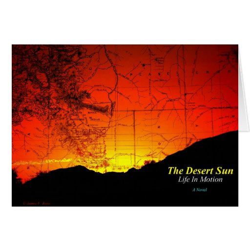 El desierto Sun - vida en el movimiento Tarjeta De Felicitación
