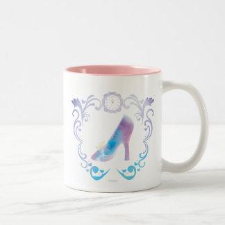 El deslizador de cristal de Cenicienta Taza De Café De Dos Colores