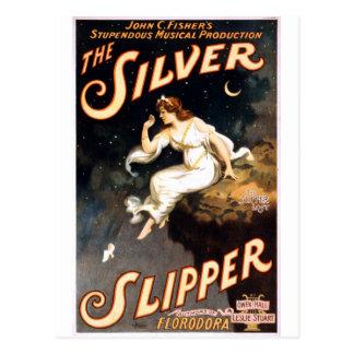 El deslizador de plata C. 1902 Tarjetas Postales
