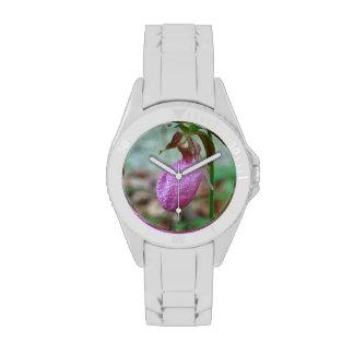 El deslizador de señora reloj de mano