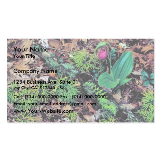 El deslizador de señora rosada plantillas de tarjeta de negocio